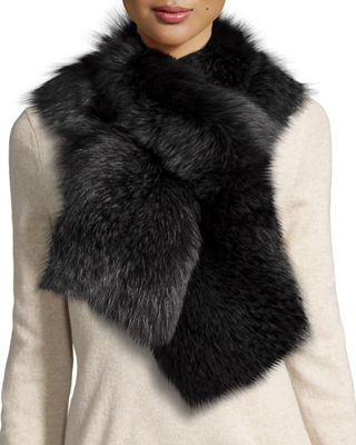 Il Borgo Fox Fur Pull-Through Scarf