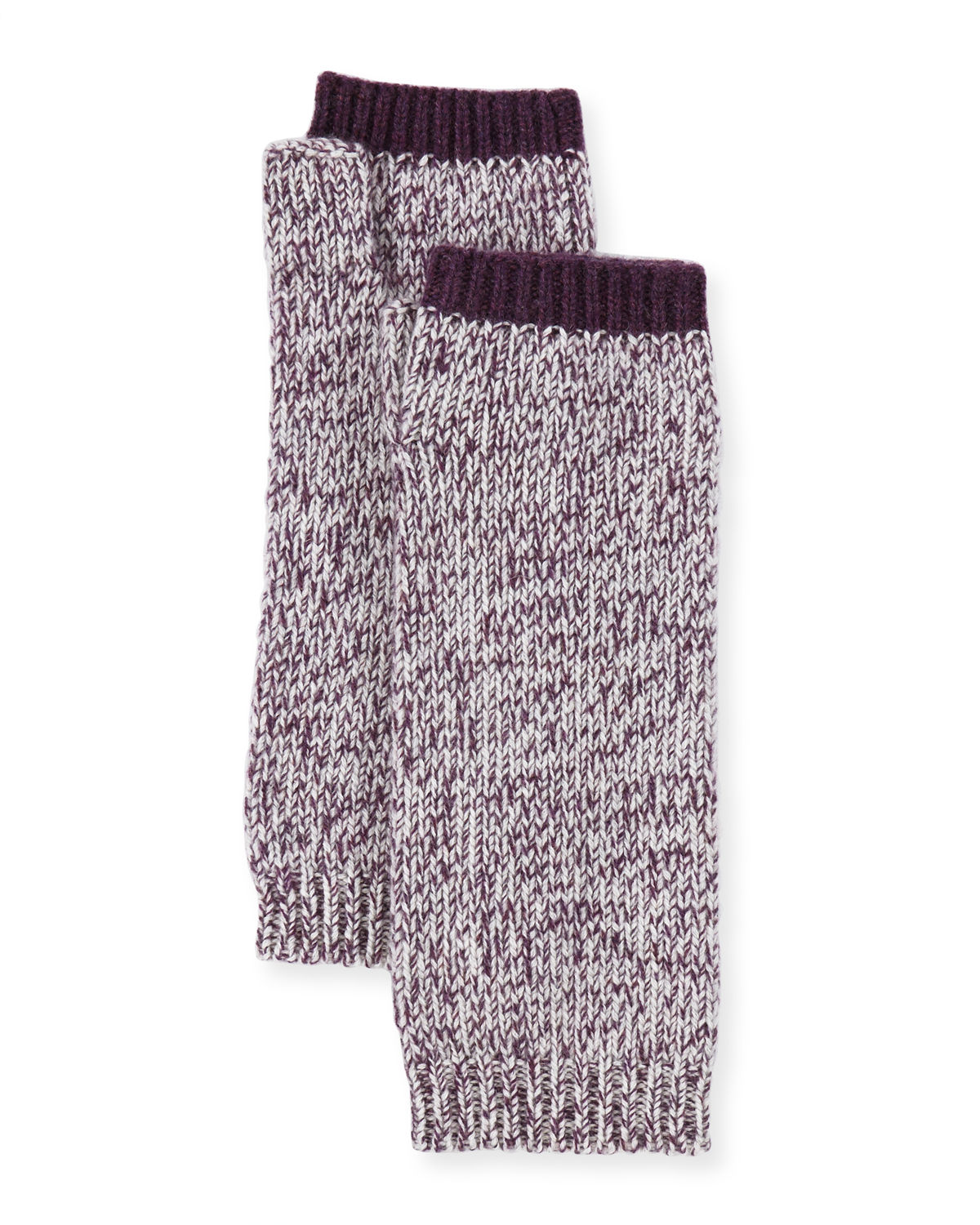 Marled Cashmere Fingerless Gloves/Arm Warmers
