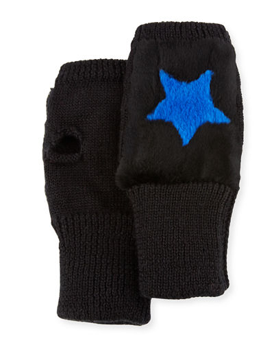 Jocelyn Knit Heart Fingerless Gloves