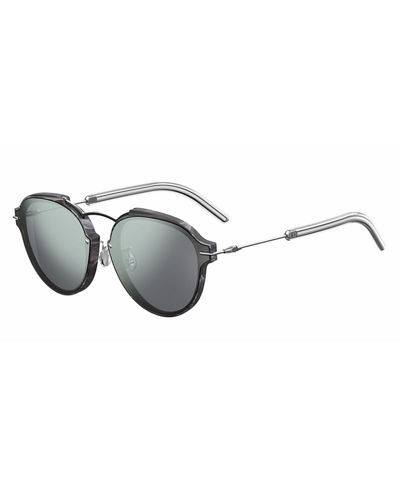 Eclat Notched Mirrored Sunglasses