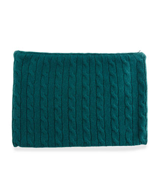 Image 3 of 3: Cashmere Cable-Knit Travel Gift Set