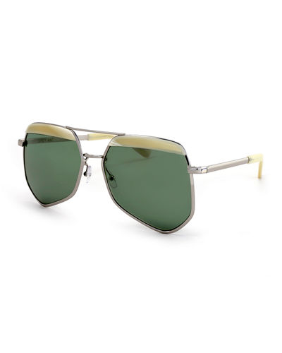 Grey Ant Hexcelled Capped Monochromatic Sunglasses