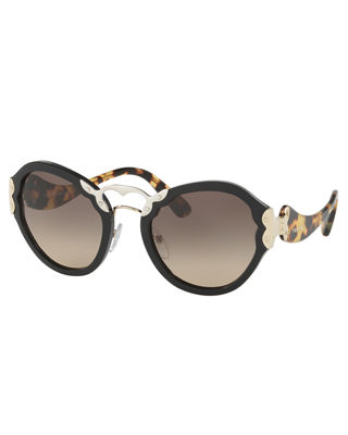 Prada Gradient Acetate Butterfly Sunglasses