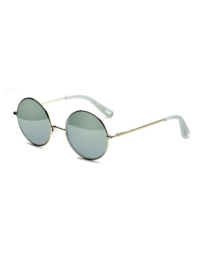 Elizabeth and James Mott Mirrored Round Sunglasses