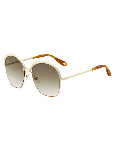 Round Trimmed Metal Sunglasses