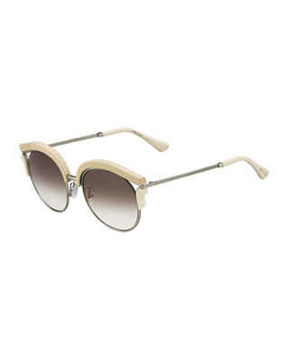 Lash Snakeskin Cat-Eye Sunglasses