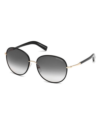 Georgia Gradient Round Sunglasses