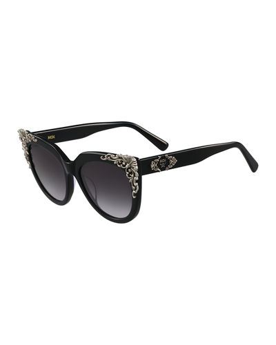 MCM Viktoria Acanthus Cat-Eye Sunglasses