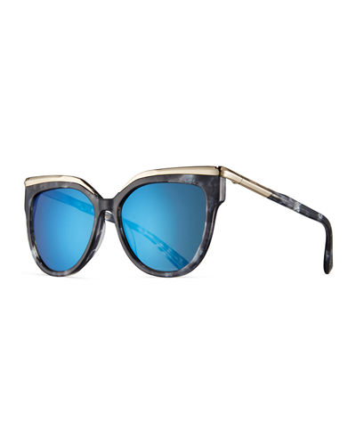 MCM Oversized Cat-Eye Sunglasses