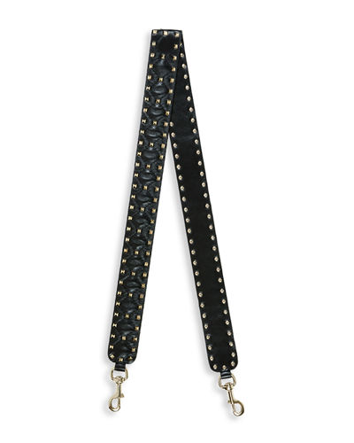 Rockstud Leather Guitar Strap for Handbag