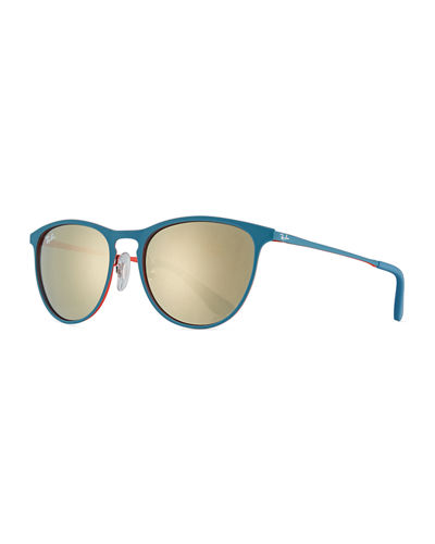 Erika Mirrored Rounded Square Sunglasses