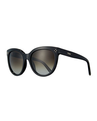 Chloe Boxwood Modified Cat-Eye Sunglasses