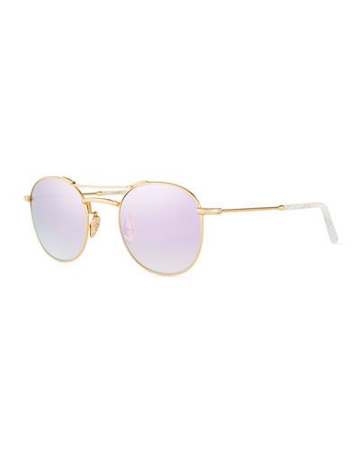 Orleans Round Mirrored Sunglasses