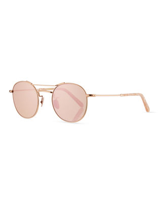 KREWE Orleans Mirrored Metal Universal-Fit Sunglasses