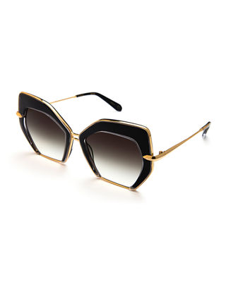 KREWE Octavia Geometric Two-Tone Sunglasses