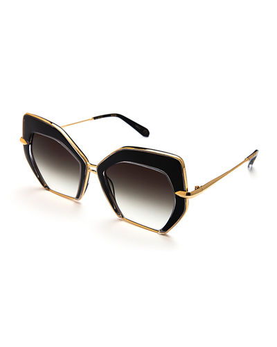 Octavia Geometric Two-Tone Sunglasses