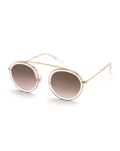d3273501dd3 Crystal Aviator Sunglasses