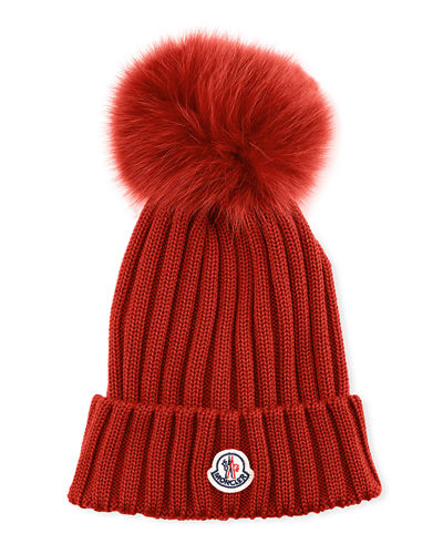 b2c28d7cd87 Quick Look. Moncler · Ribbed-Knit Beanie Hat ...