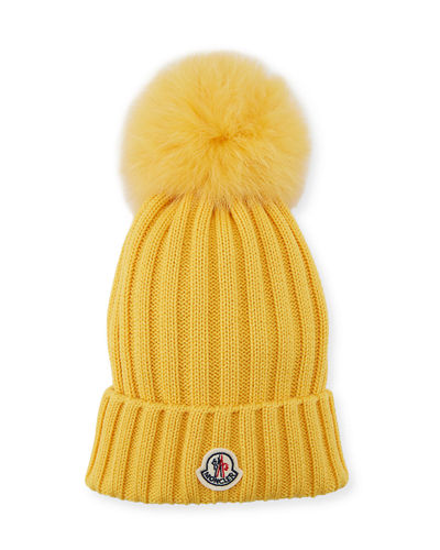 4c54b3f9a9737 Quick Look. Moncler · Berretto Knit Hat w  Fur Pompom
