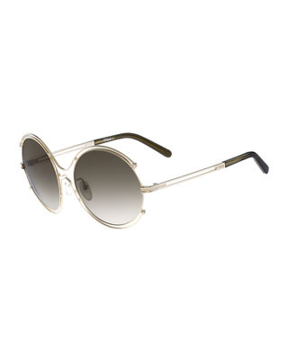 Chloe Isidora Wire-Rimmed Sunglasses