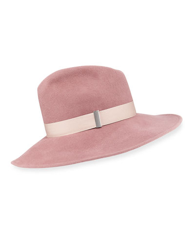 Drake Wool Wide-Brim Fedora Hat