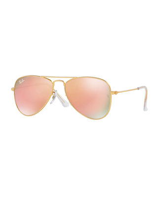 Ray-Ban Junior Mirrored Aviator Sunglasses