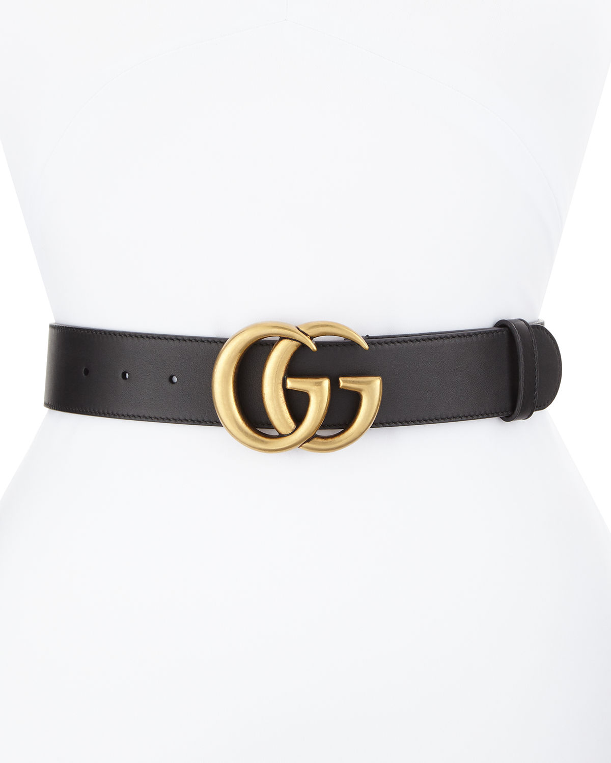 29e1df691 Gucci Leather Belt with GG Buckle | Neiman Marcus