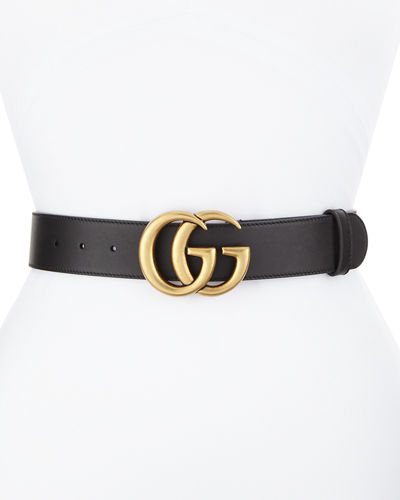 eda878f2c Quick Look. Gucci · Leather Belt with GG Buckle. Available in Black ...