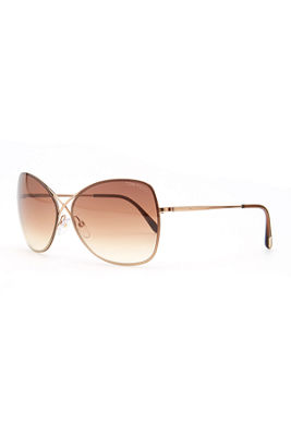 Colette Metal-Frame Butterfly Sunglasses, Rose Gold