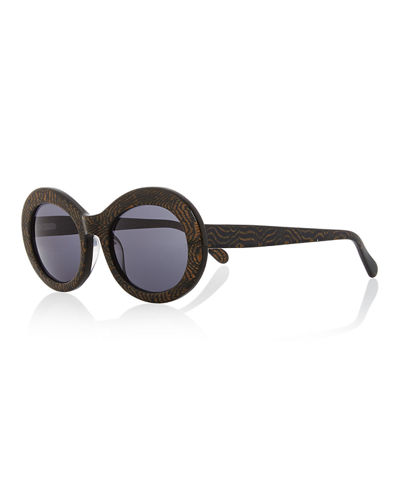 San Francisco Transparent Oval Sunglasses