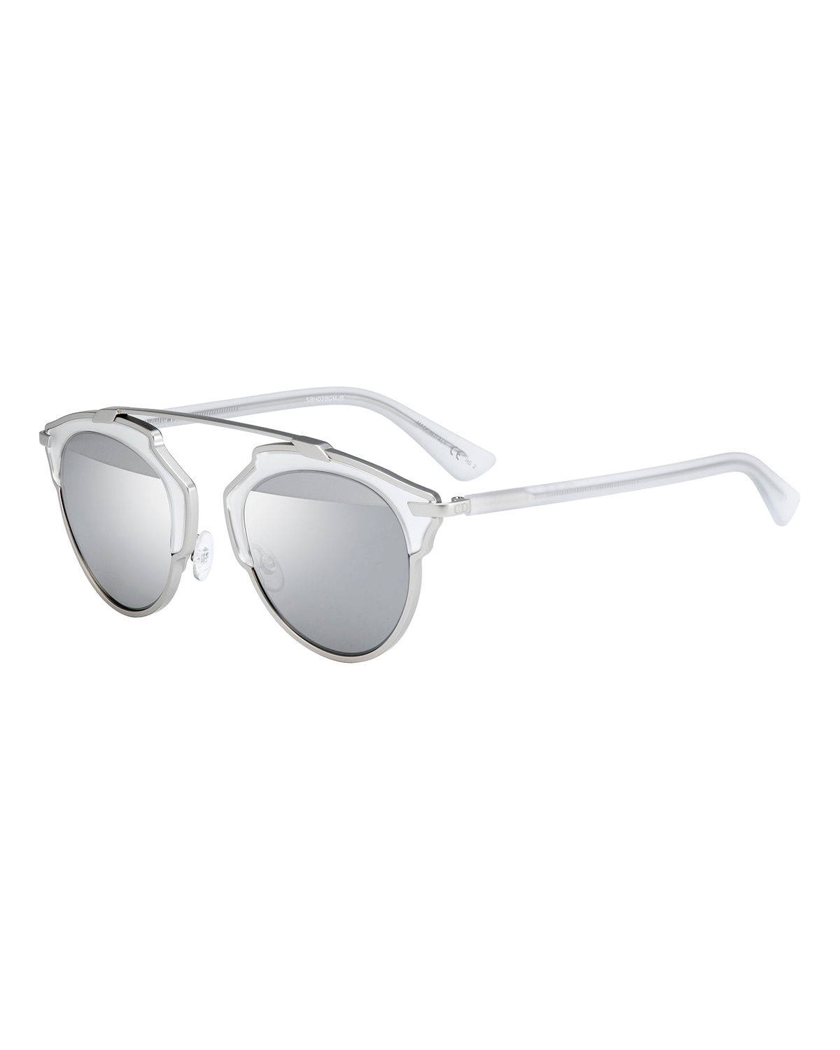 So Real Mirrored Iridescent Sunglasses