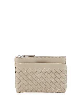 Bottega Veneta Intrecciato Zip-Top Key Pouch