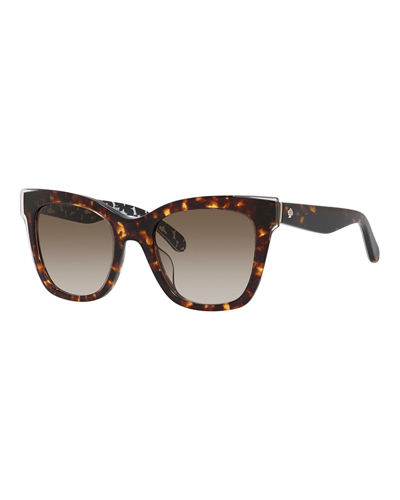 emmylou square polka-dot interior sunglasses