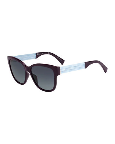 Ribbon1 Square Two-Tone Sunglasses