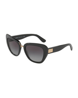 Image 1 of 2: Gradient Squared Cat-Eye Acetate Sunglasses