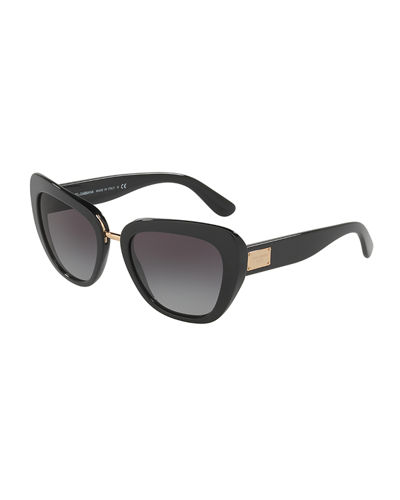 Gradient Squared Cat-Eye Acetate Sunglasses