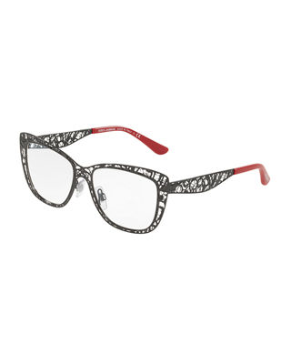 Dolce & Gabbana Flowers Lace Square Optical Frames