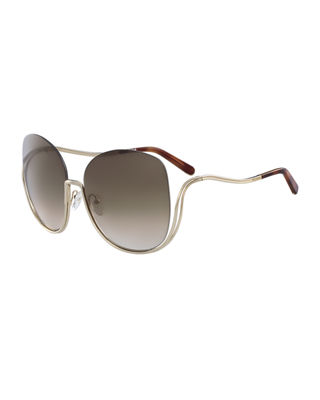 Chloe Milla Square Semi-Rimless Sunglasses