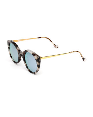 Palm Beach Mirrored Cat-Eye Sunglasses