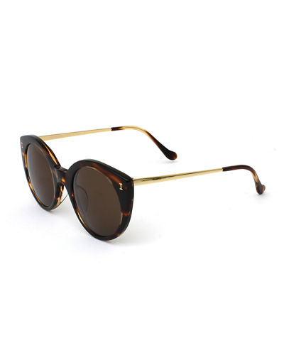 Illesteva Palm Beach Mirrored Cat-Eye Sunglasses