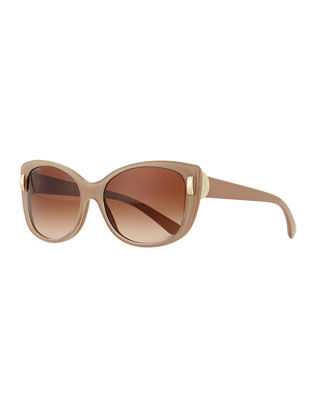 BVLGARI Square Gradient Two-Tone Sunglasses