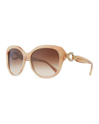 BVLGARI Square Gradient Sunglasses