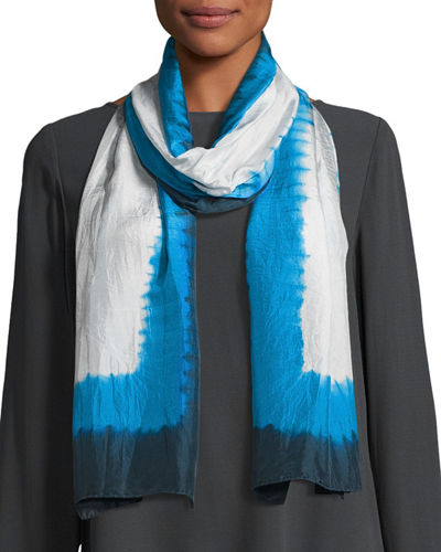 Eileen Fisher Silk Shibori Frames Scarf and Matching