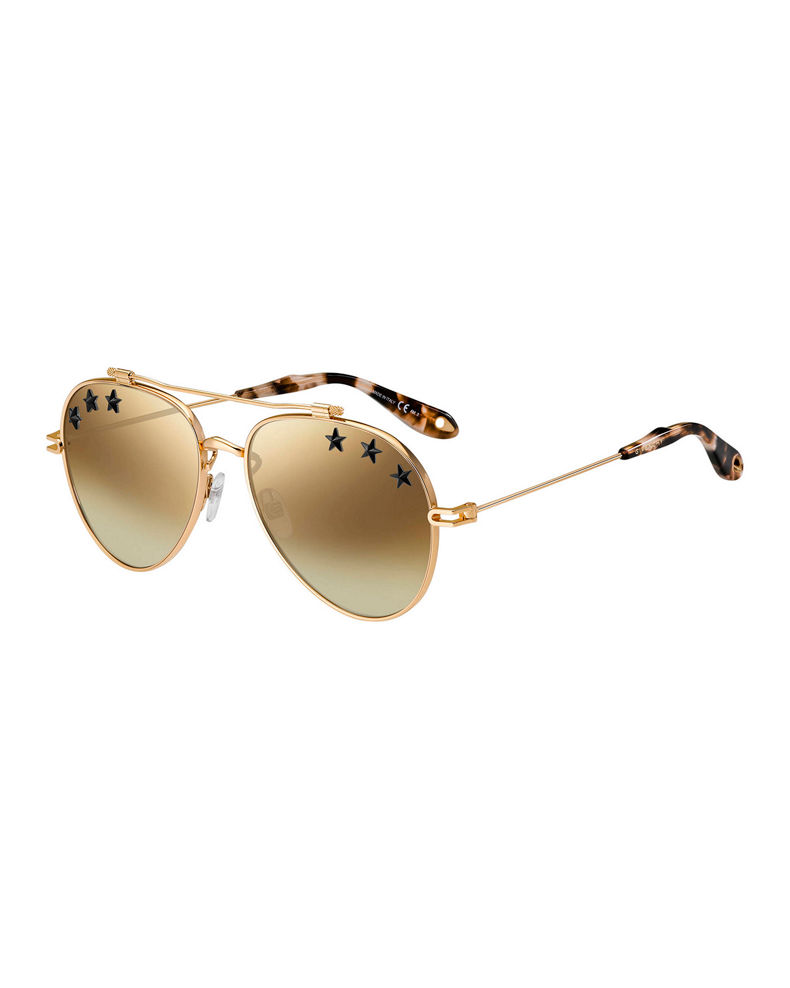 Givenchy Rubber Star Aviator Sunglasses