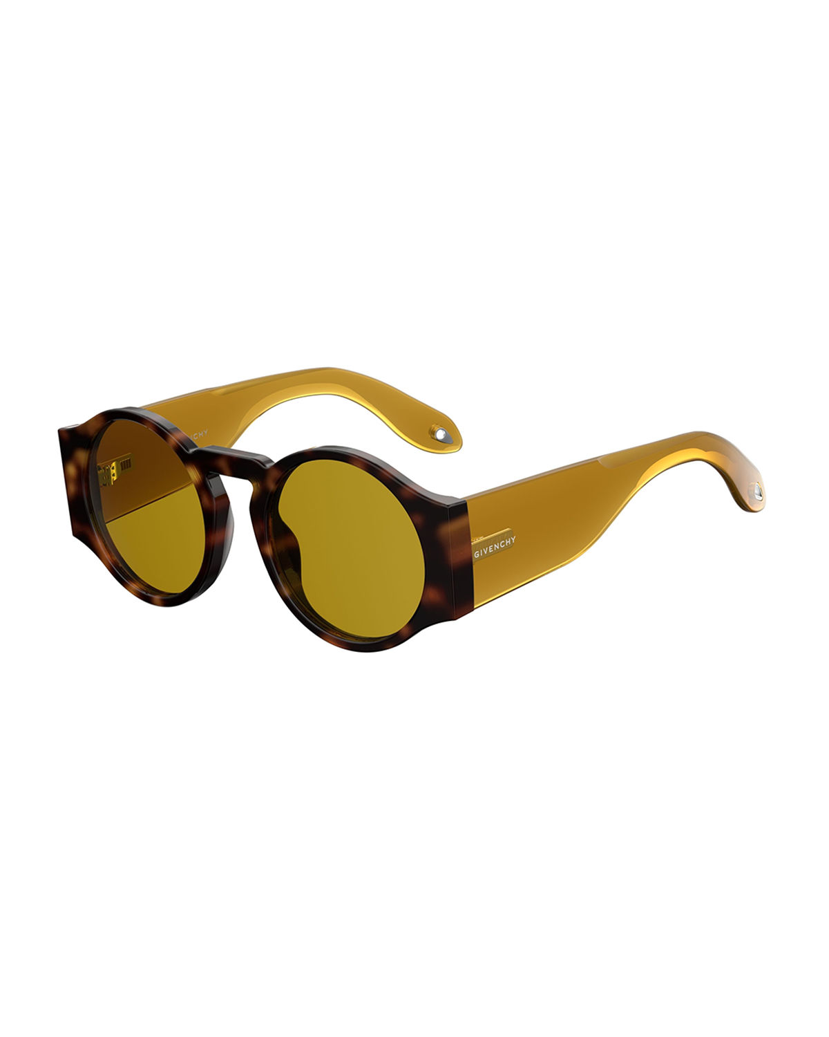 Round Wrap-Style Sunglasses
