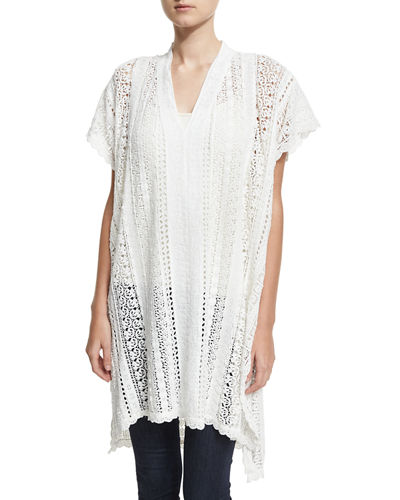 Johnny Was Pearla Lace-Crochet Poncho and Matching Items