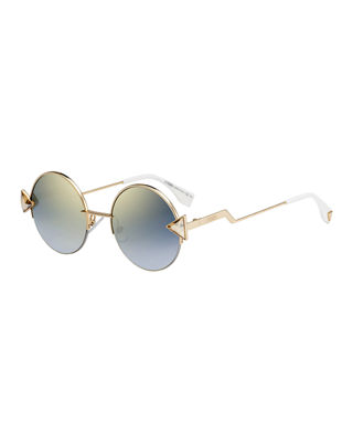 Image 1 of 2: Rainbow Round Sunglasses