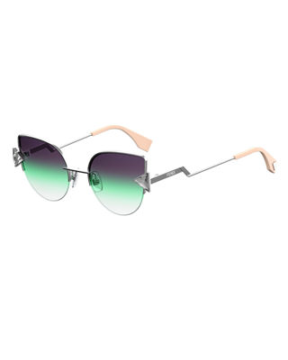 Fendi Rainbow Metal Cat-Eye Sunglasses