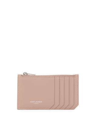 Saint Laurent Small Zip-Top Card Case