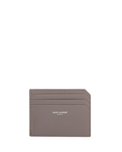 Saint Laurent Small Leather Credit Card Case